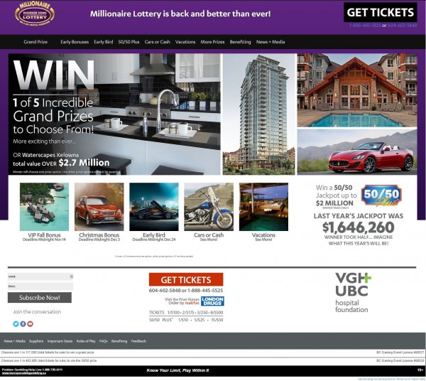 Millionaire 2014 Home Page