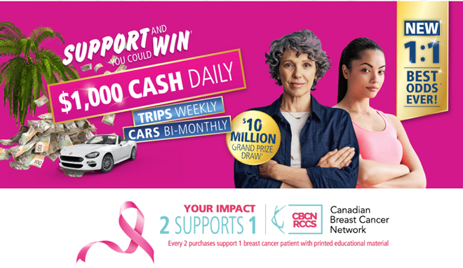 Shop4Charity Calendar Sweepstakes Supporting the Canadian Breast